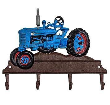 Kleiderhaken Wandgarderobe Garderobe Traktor Fahrzeug Eisen Antik-Stil 36cm