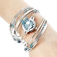 SODIAL(R) 029138 - Reloj para mujeres color plateado