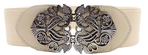 Vovotrade Nueva moda de aleacion flor vintage Accesorios cinturon de cuero cinturones para mujer