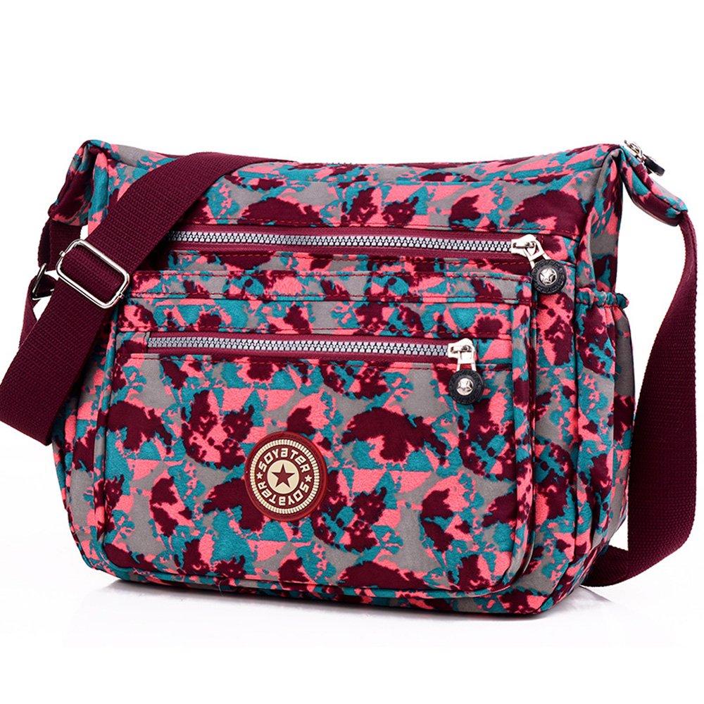 91c518c8c798 ENKNIGHT Nylon Crossbody Purse Bag for Women Travel Shoulder handbags Black