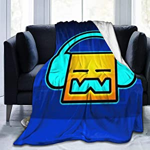 "G-eomeTry D-ash Throw Blanket Flannel Fleece Super Soft Lightweight Warm Graphic Black 60"""" x50"