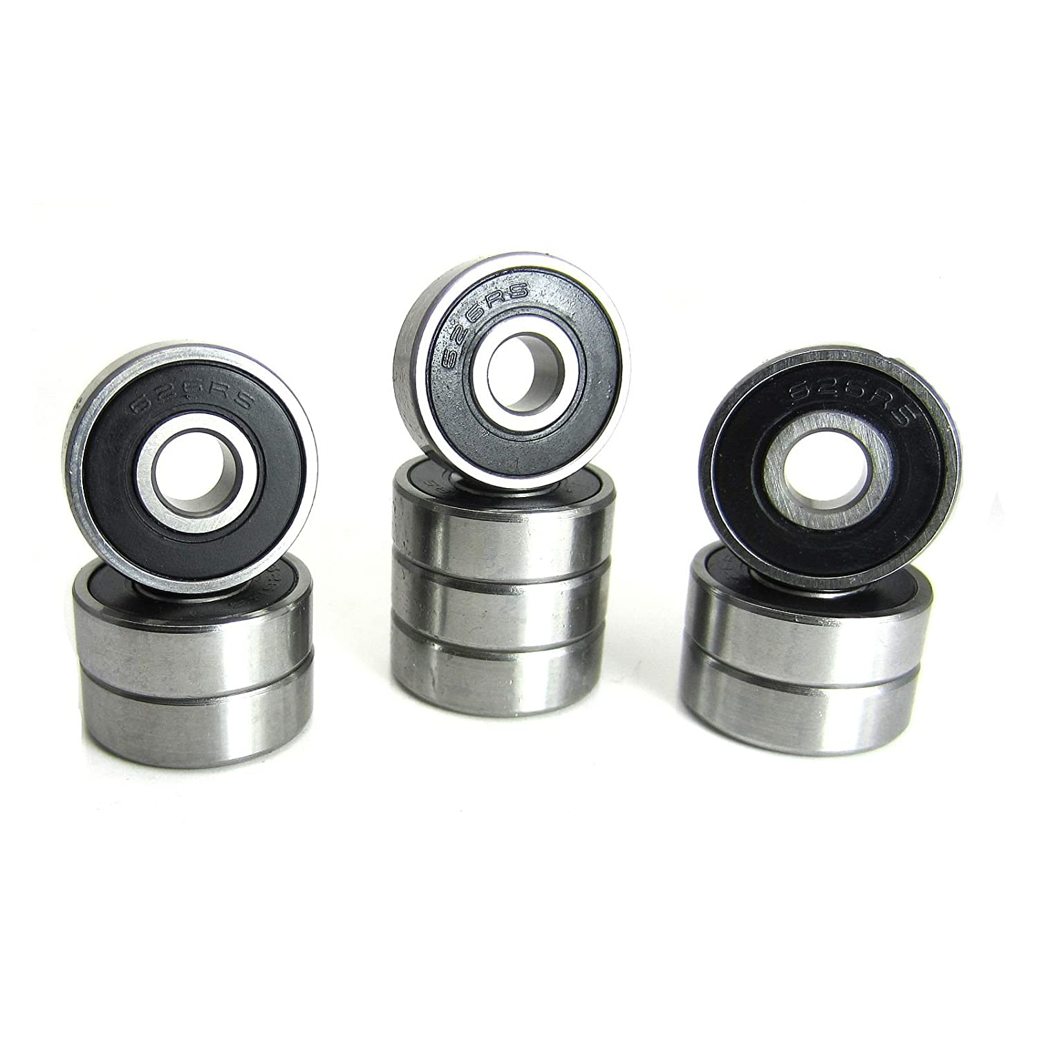 10 6x19x6mm Precision Ball Bearings ABEC 3 Rubber Seals 626 2RS