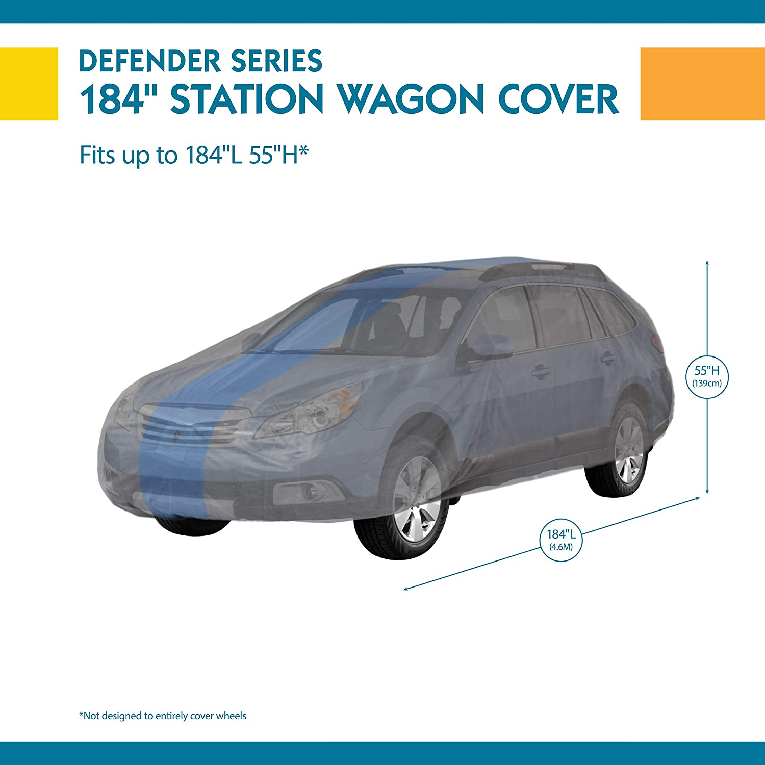 Duck Covers Defender Station Wagon Cover for Wagons up to 16 8 A1SW200