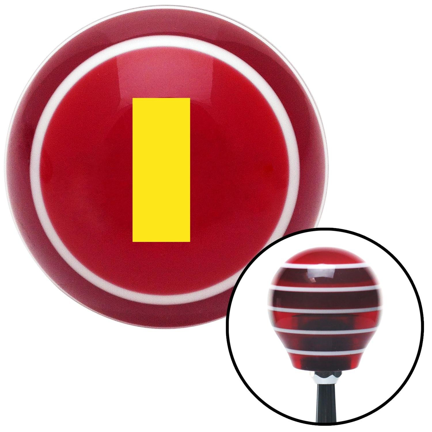 American Shifter 110426 Black Shift Knob with M16 x 1.5 Insert Yellow FTW!