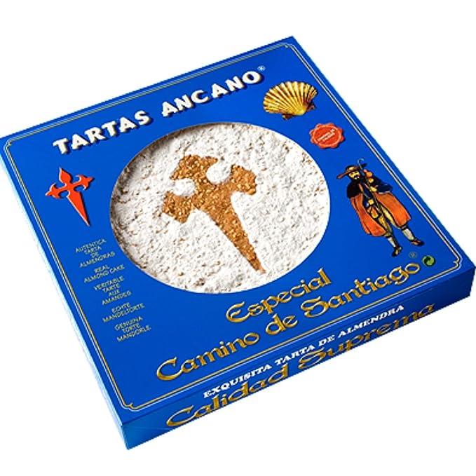 Tarta de Santiago - Tartas Ancano Tarta de Santiago - Elaboración Artesanal en Portomarín - La