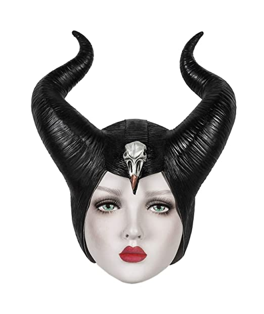 Maleficent Mistress Of Evil Mask Maleficent 2 Helmet Hat Horns Black For Women
