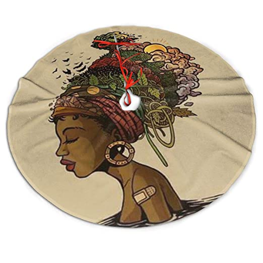 WU4FAAR Falda de árbol de Navidad Abstracta de Mujer Africana para ...
