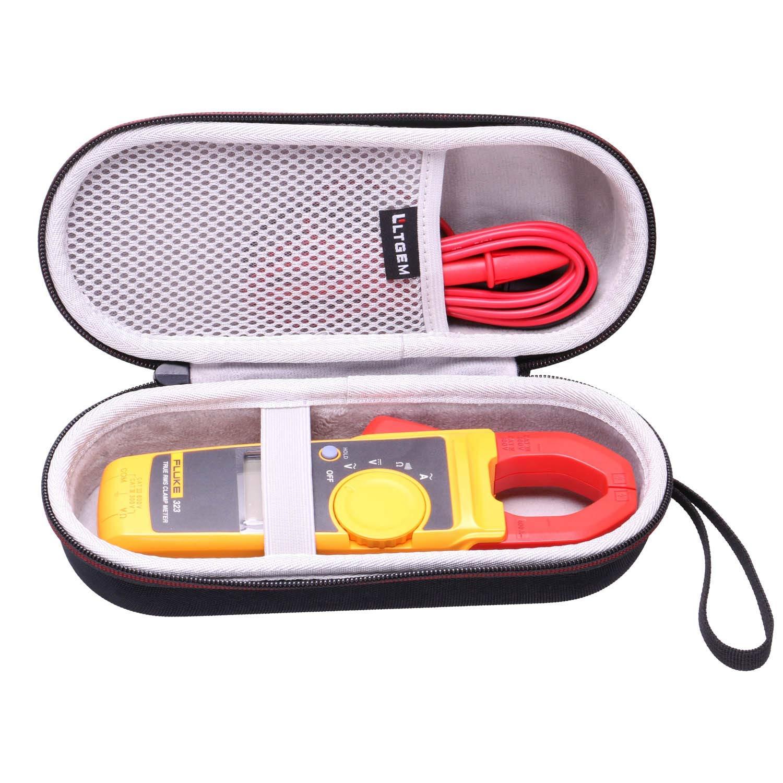 LTGEM Hard Case for Fluke 323//324//325//373//374FC-AMZN//374FC 600AC//DC //375//376 FC True-RMS Clamp Meter Clamp Multimeter AC-DC TRMS Mesh Pocket for Accessories.