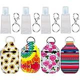 Topcent - Llavero desinfectante de manos, 4 unidades, tamaño pequeño, aspiradora, tamaño de viaje, recipientes recargables pa