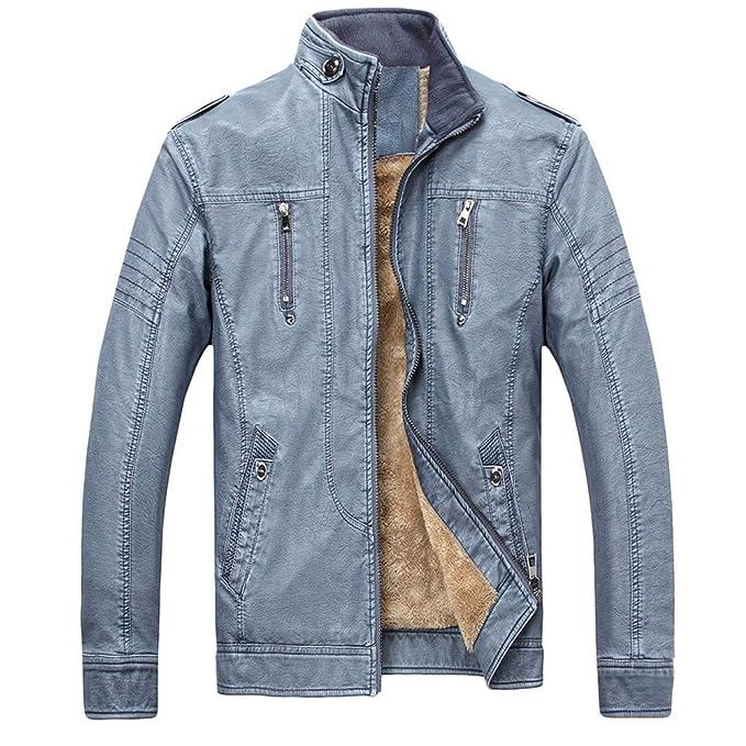 Yesmile ⭐ Blusa de Camuflaje de Invierno para Hombre Abrigo de Engrosamiento de Ciclistas clásicos Ropa Interior Moderna Moderna Blusa de Color Liso Plus ...