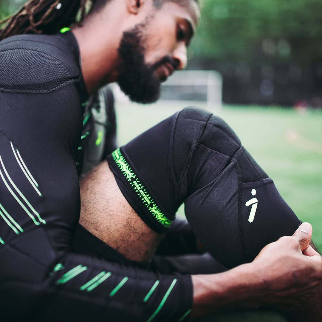Padded Compression Knee Guards for Soccer Players Enhanced Leg Protection Storelli BodyShield Knee Guards