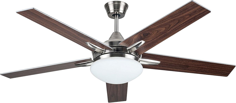 Ventilador de techo Sulion 75655 modelo Plywood, con luz y mando a ...
