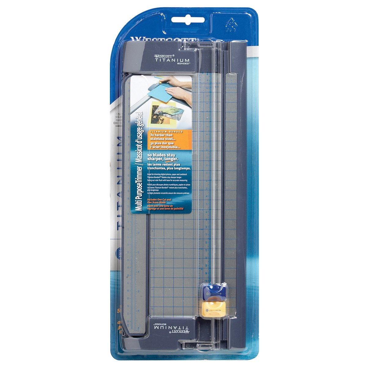 Westcott Titanium Bonded, 12-Inch Paper Trimmer (13779P) Acme Office Products