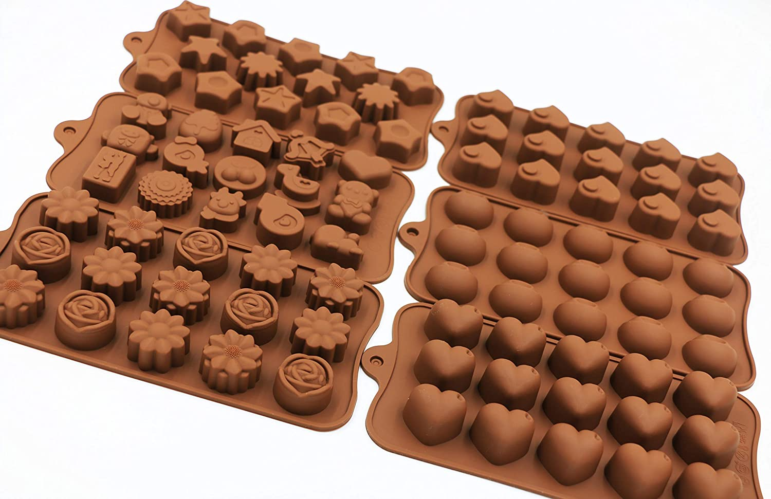Amazon.com: PONECA Silicone Candy Molds Chocolate Molds 6 Pack Silicone Molds For Fat Bombs Chocolate Molds Silicon Molds Candy Mold Silicon Mold Hard Candy ...