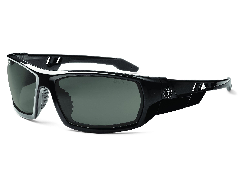 Ergodyne Skullerz Odin Polarized Safety Sunglasses - Black Frame, Smoke Lens by Ergodyne (Image #1)
