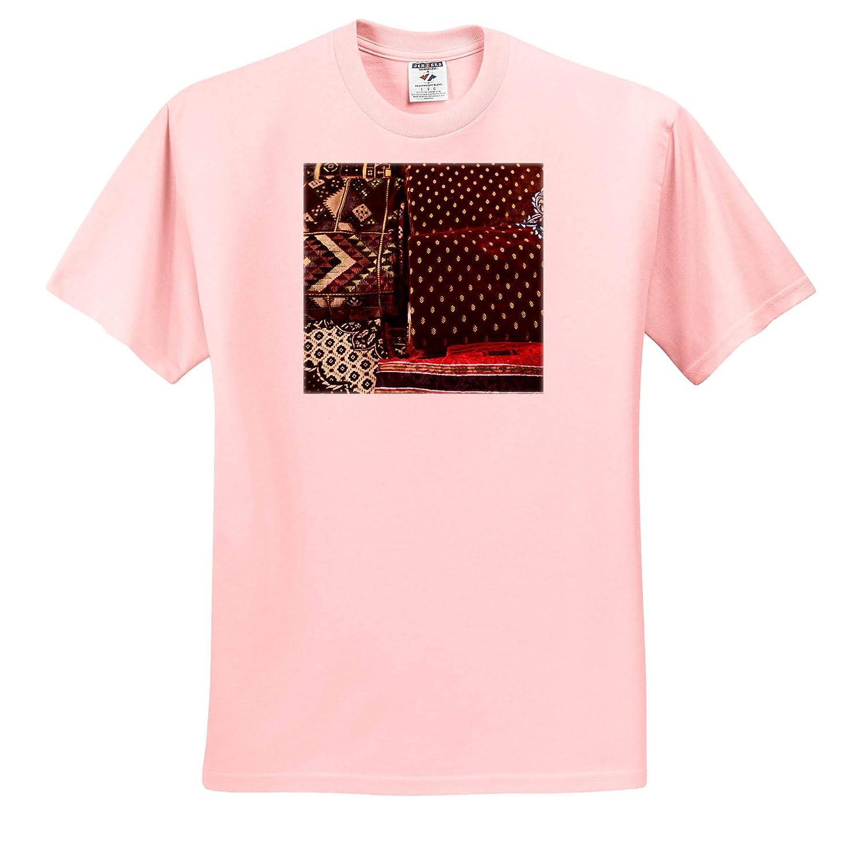 3dRose Danita Delimont Deira ts/_312927 Souvenir Fabric Adult T-Shirt XL Dubai Textiles UAE