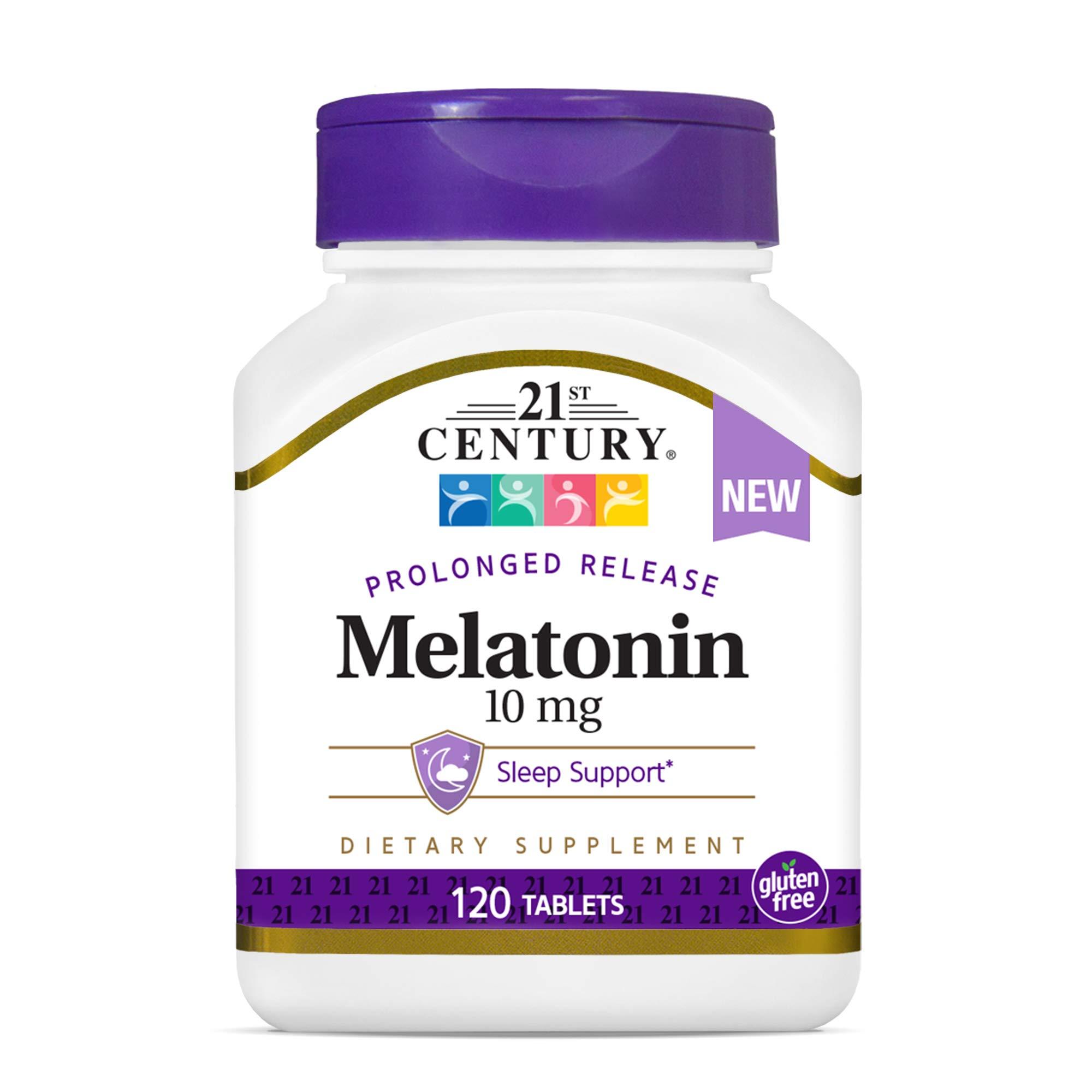 21st Century Melatonin 10 Mg Prolonged Release, 120 Count