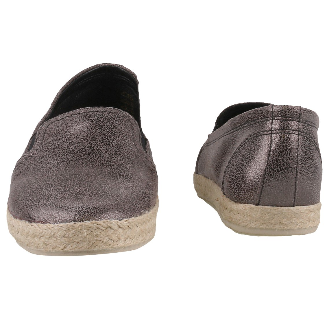 Tamaris - Damen Leder Slipper Anthrazit - Tamaris d3e714