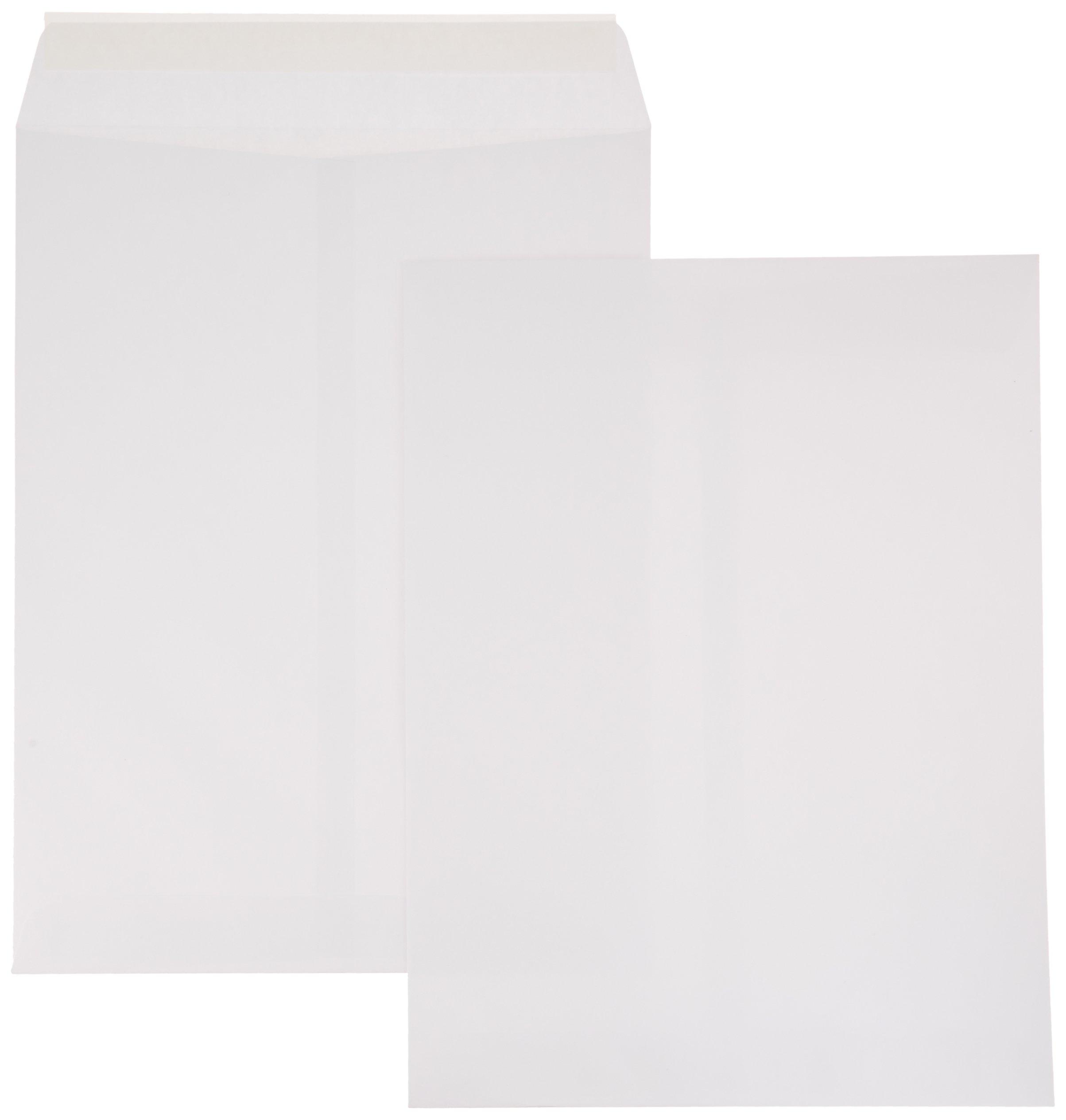 AmazonBasics Catalog Envelopes, Peel & Seal, 9 x 12 Inch, White, 100-Pack