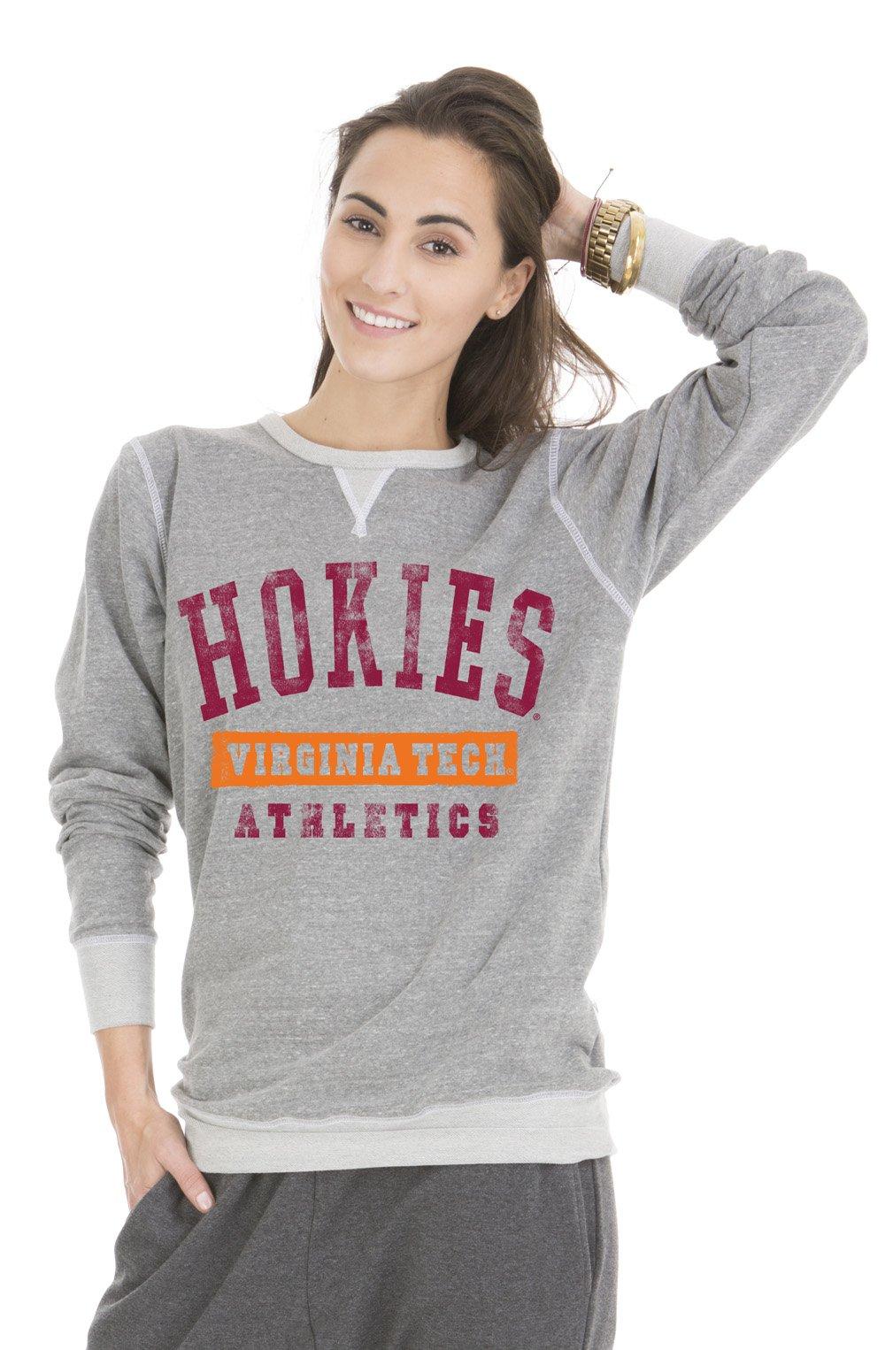 RYLVAT07 Mens Long Sleeve Jersey Henley Official NCAA Virginia Tech Hokies