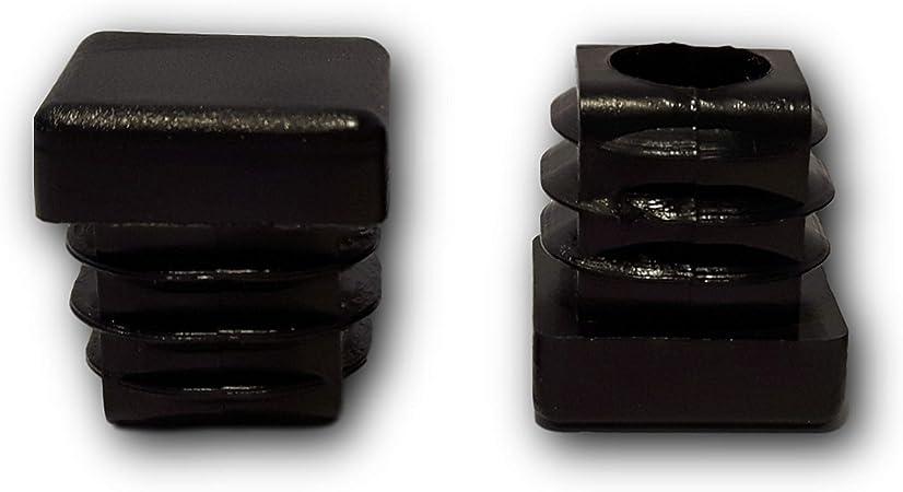dimensions ext/érieures 30x20mm pour tubes carr/és noirs 20 bouchons