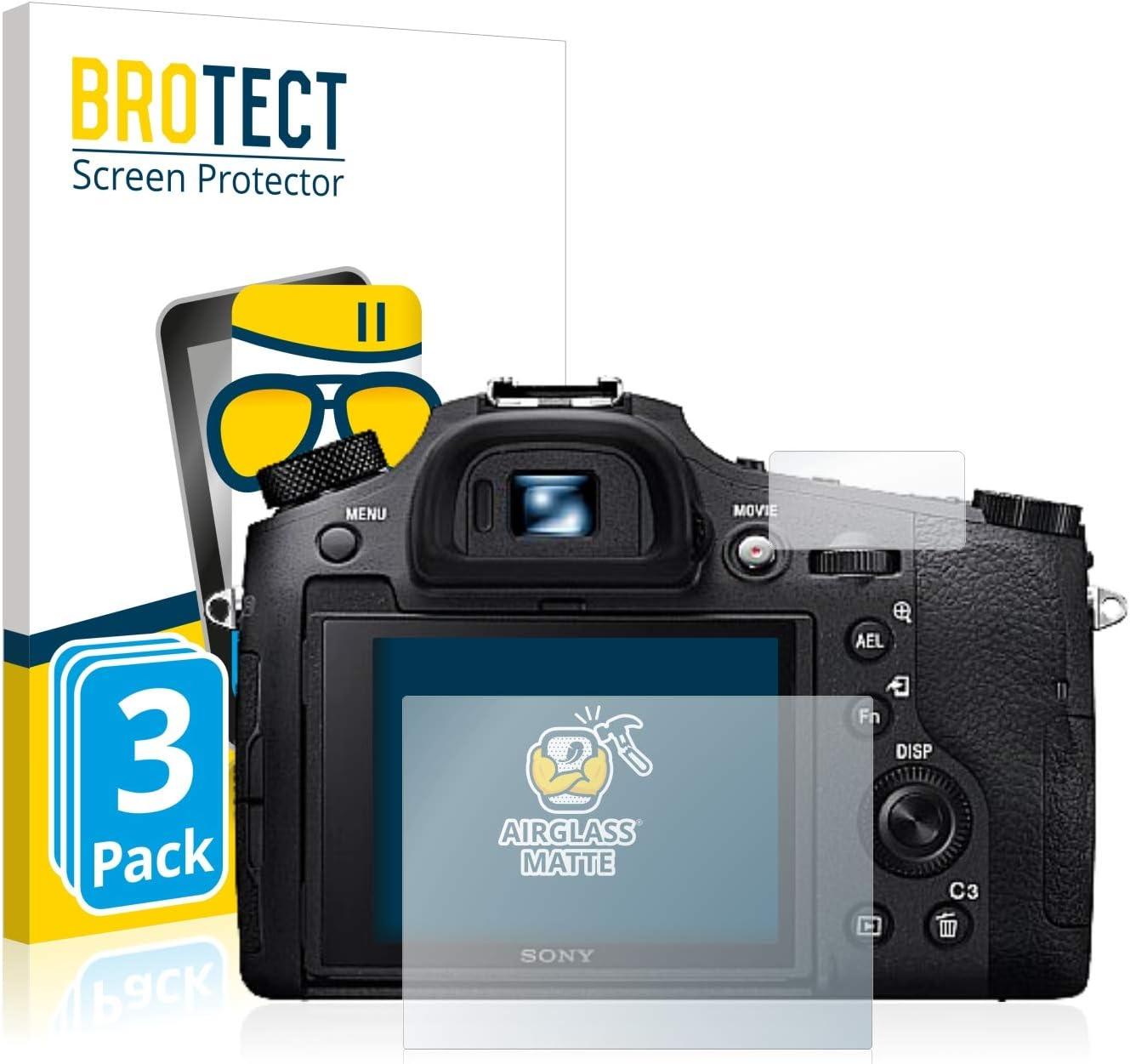BROTECT Protector Pantalla Anti-Reflejos Compatible con Sony Cyber-Shot DSC-HX60 2 Unidades Pelicula Mate Anti-Huellas