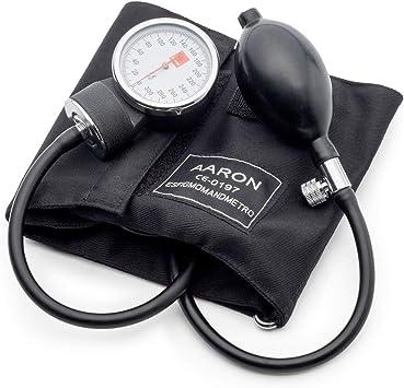 Tensiómetro aneroide AARON® | brazalete ajustable. Kit profesional para la medición de tensión arterial. Esfigmomanómetro aneroide.: Amazon.es: Salud y cuidado personal