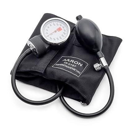 Tensiómetro aneroide AARON® | brazalete ajustable. Kit profesional para la medición de tensión arterial