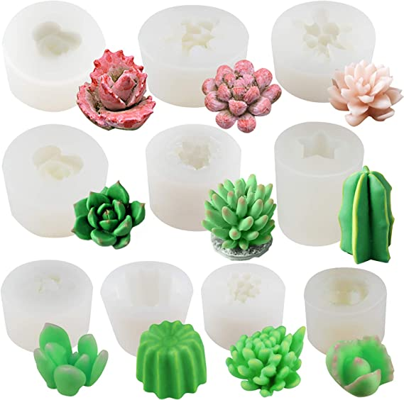 Mould silicone mug jar 14cm flowers Chamomile Cactus succulent paste polymer plaster porcelain soap clay polyester resin wax K282A