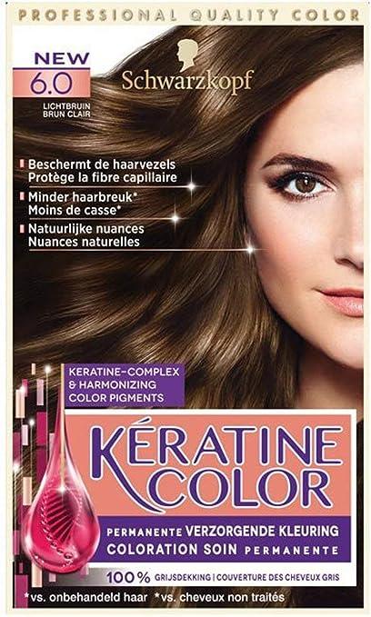 Schwarzkopf Keratine Color - Tinte para el cabello 6.0 ...