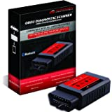 AUTOGEN® ELM327 Bluetooth OBD2 Scanner Torque Auto Diagnose, Smartphone Tablet Android Windows CAN BUS Interface OBDII Diagnosegerät, unterstützt alle aktuellen OBD 2 Protokolle VW Mercedes Audi BMW Opel Ford