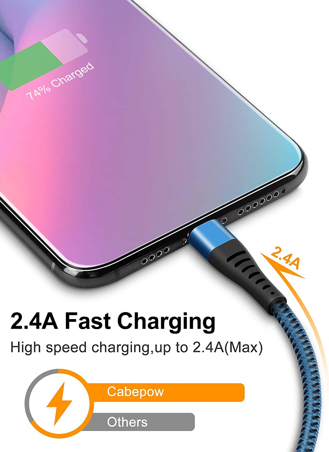 CABEPOW Long 3Pack 10 Foot iPhone Charger Cable Lightning Cable 10ft Data Sync iPhone USB Charging Cable Cord for iPhone 11//11 Pro//11 Pro Max//XS//XS Max//XR//X//8//8 Plus//7//7 Plus//6//6 Plus//5//SE-Blue
