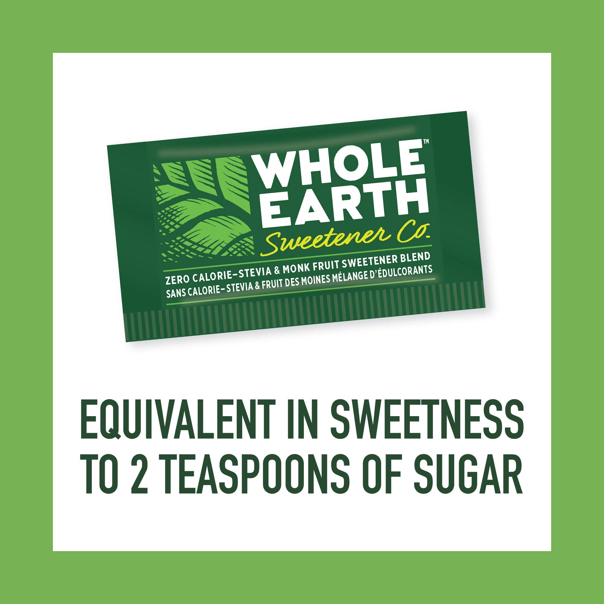 WHOLE EARTH SWEETENER Stevia and Monk Fruit Sweetener, Erythritol Sweetener, Sugar Substitute, Zero Calorie Sweetener, 1,000 Stevia Packets by Whole Earth Sweetener Company (Image #4)