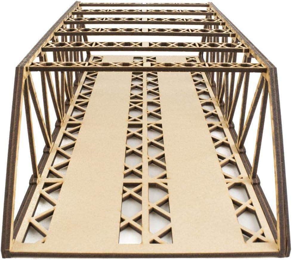 Maquetas Puente Tipo Girder de v/ía Doble 400mm con Detalles Modelismo Ferroviario OO//HO War World Scenics
