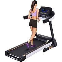 AMDirect Elektrisches Laufband Fitnessgerät Klappbarer Heimtrainer große Lauffläche Treadmill Profi Laufband