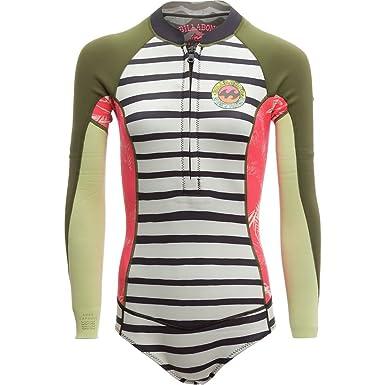 Billabong Women s Surf Capsule Neoprene Glideskin Salty Days Long Sleeve  Wetsuit Swimsuit fa211ef1d