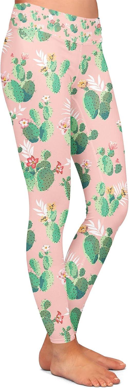 Cactus in Bloom Yoga Leggings Low Rise