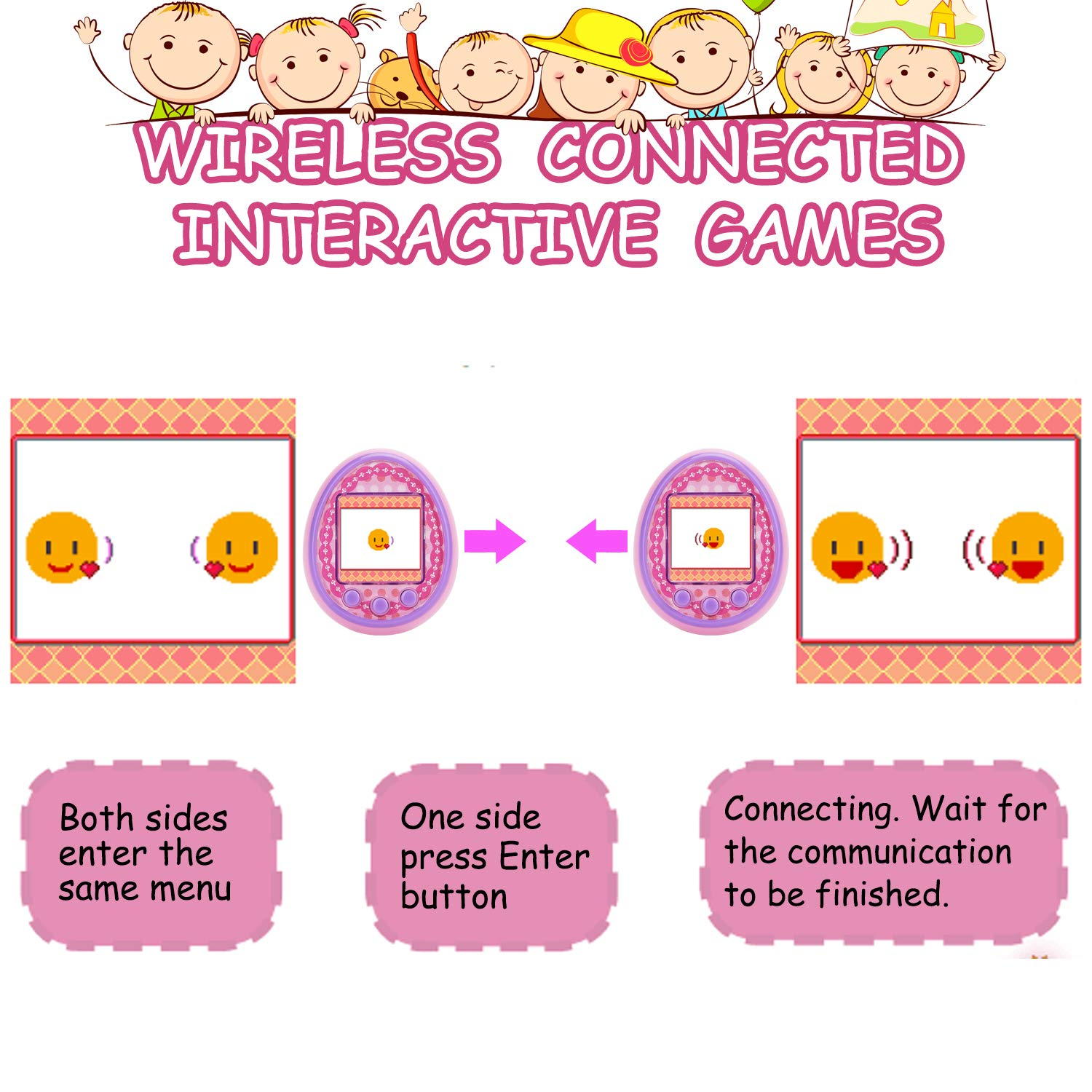 Virtual Digital Pets Toys Electronic Pets Game Machine HD Color Screen for Over 6 Years Old Child Toy 2019 New Version as a Best Birthday Gift for Boys Girls by Touma pets (Image #6)