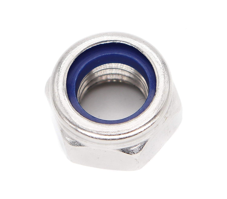 binifiMux 10pcs 304 Stainless Steel M12-1.75mm Nylock Nylon Inserted Self Locking Nuts