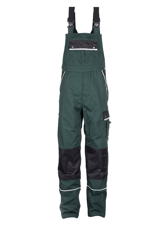 TMG® - Salopette da lavoro/giardinaggio resistente - Tedesco Qualità - uomo - verde (W34 R / EU50) 401010-50