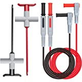 Goupchn 2PCS Multimeter Test Leads 4mm Banana Plug Male to Male with Puncture Probes Wire-Piercing Test Clip Tool for…