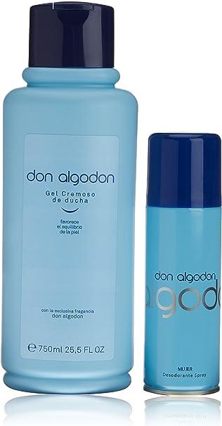 Don Algodon, Paquete con: Desodorante Vaporizador 200 ml y Gel Cremoso de Ducha 750 ml: Amazon.es: Belleza