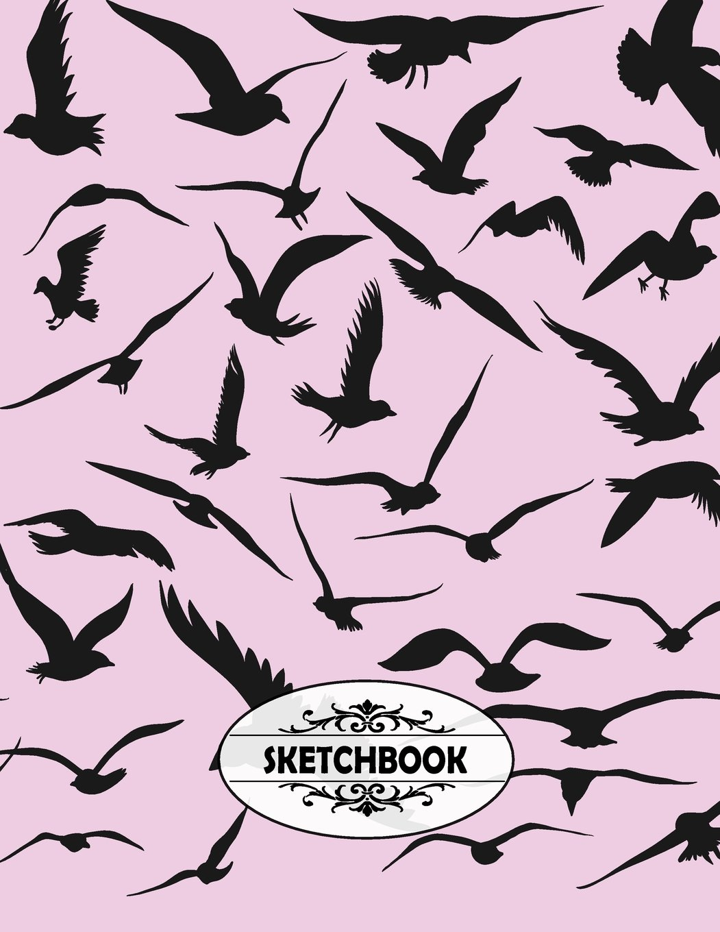 Sketchbook: Black Birds On A Purple Book Cover Cover and Blank pages, Extra large (8.5 x 11) inches, 110 pages, White paper, Sketch, Draw and Paint (Volume 4) pdf