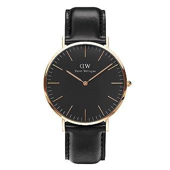 bb8f3949ce CLASSIC BLACK新品Daniel Wellington ダニエル ウェリントン SHEFFIELD メンズ腕時計 クラッシー 本革 腕時計  ピンクゴールド