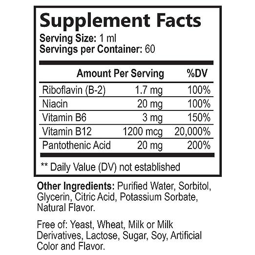 Amazon.com: Vitamina B12 líquido gotas – Extra fuerza ...