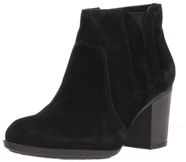 CLARKS Women's Enfield Senya Ankle Bootie B01N7N1YRR 6.5 B(M) US|Black Suede