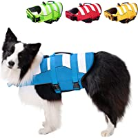 Superior Buoyancy Dog Life Jacket Ripstop Safety Vests for Swimming, Boat, High Visibility & Rescue Handle for Small…
