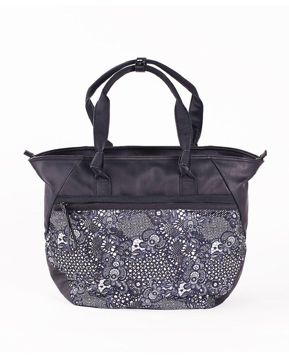 LULULEMON EVERYTHING BAG - Pretty Lace White Black - O/S