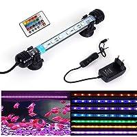 L/ámpara LED para acuario 2 modos, 24 luces LED para acuario, luz para tanque de peces MOPOIN
