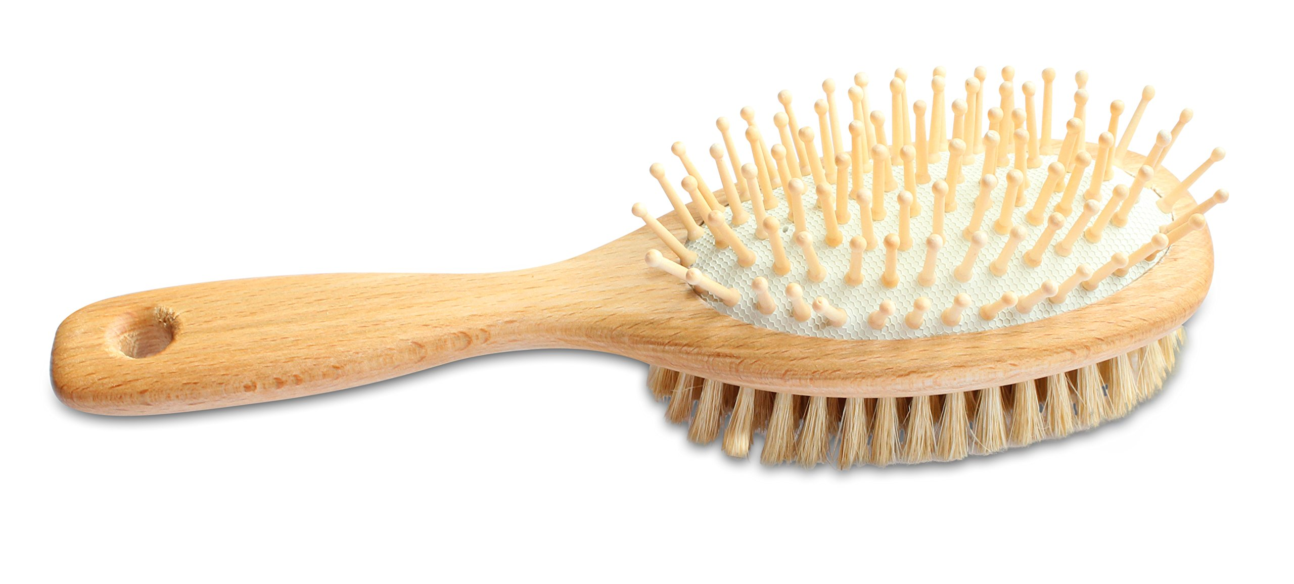 Mars Professional Wood Pin and Bristle Brush for Horses, Mane and Tail, Made in Germany